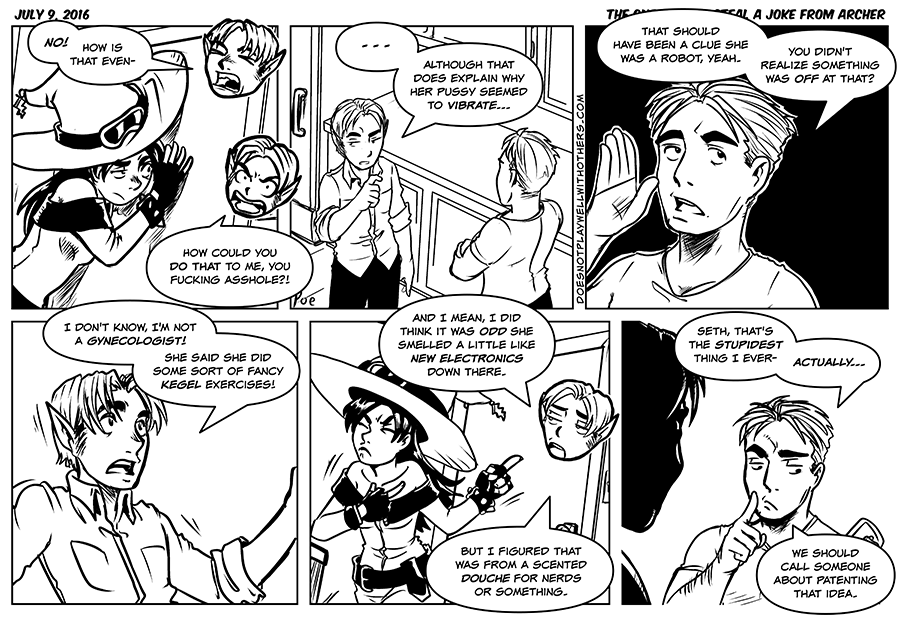 Deleted dialog for panel five; Fran:_whew, totally dodged a bullet there._